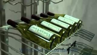 Custom Wine Cellars Los Angeles Metal Racks Vertical Assembly