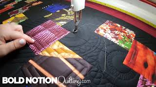 African Squares Channel Quilting