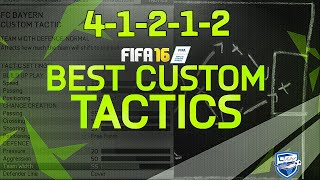 FIFA 16 4-1-2-1-2 TUTORIAL / BEST CUSTOM TACTICS & PLAYER INSTRUCTIONS / HOW TO PLAY WITH 41212