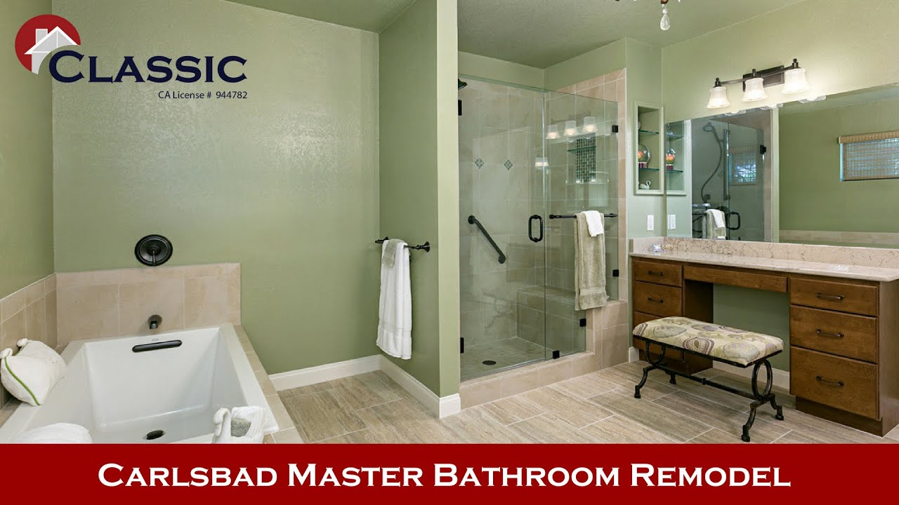 Carlsbad Master Bathroom Remodel Bathroom Remodeling YouTube - Bathroom remodel carlsbad