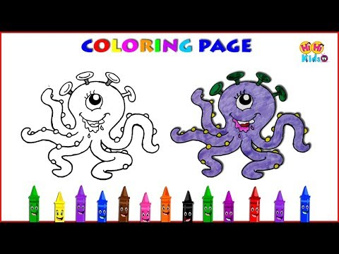 How to Draw Cartoon Characters   How to Draw an Octopus   Easy Drawings for Kids