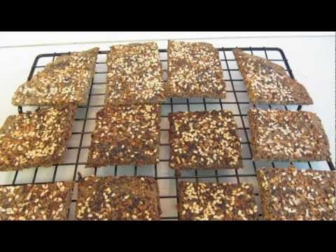Flaxseed Meal Herbed Crackers with Parmesan Cheese Gluten Free