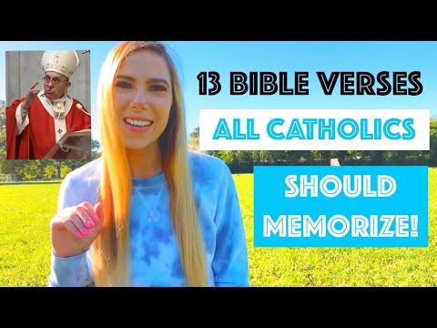 13 APOLOGETICS BIBLE VERSES ALL CATHOLICS SHOULD MEMORIZE!!