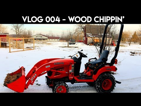 VLOG 004 - cutting trees down and wood chipping for DIY fire pit