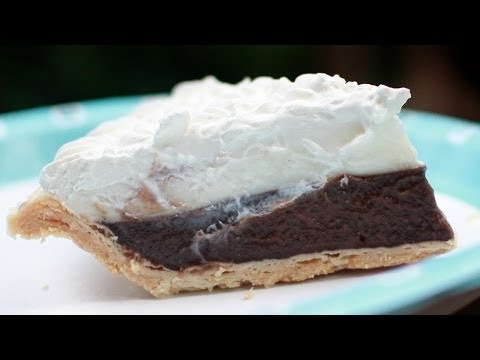 Chocolate Pie - Hawaiian Chocolate Haupia Pie Recipe