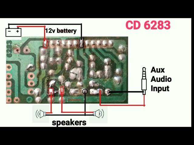 Ic 6283 Audio Amplifier Circuit Digram, 6283 ic connection Explain in hindi