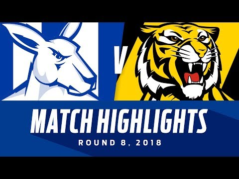Match Highlights: North Melbourne v Richmond | Round 8, 2018 | AFL