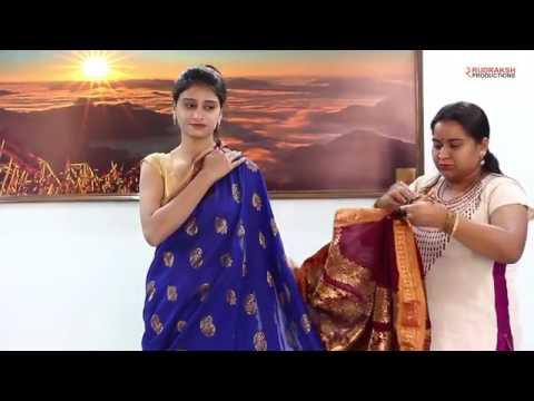 Nauvari Saree Draping Tutorial   Nauvari Video   Maharashtra Saree