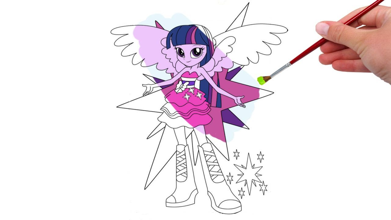 My Little Pony Equestria Girl Twilight Coloring Pages Youtube