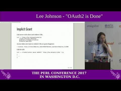 Lee Johnson - OAuth2 is DOne