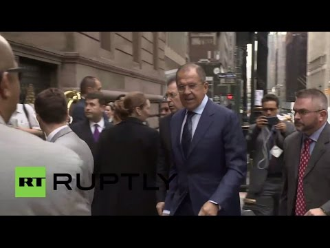 USA: Lavrov arrives for meeting with Kerry ahead of sustainable development summit