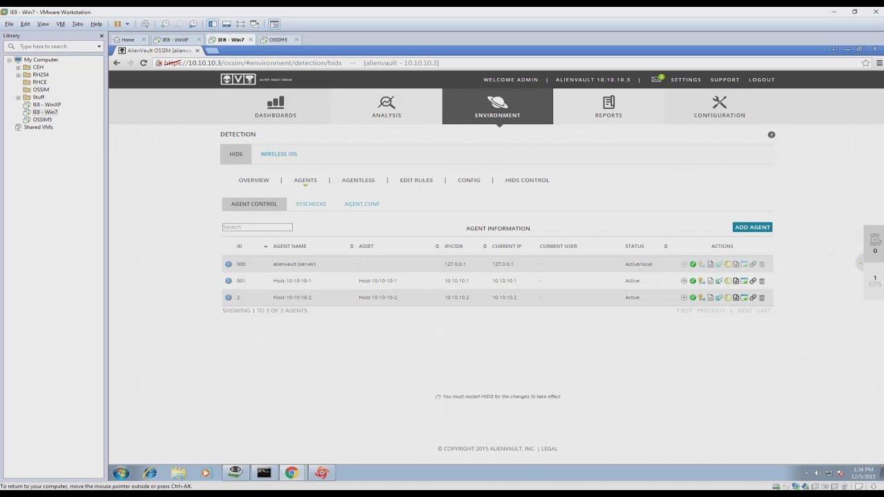 Alienvault ossim install vmware tools