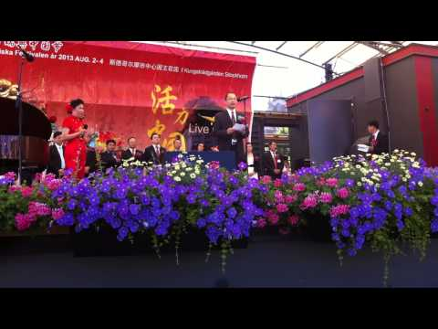Li from Museum of Far East Antiquity in Stockholm speaks at China Festival