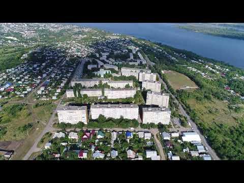 город Вольск с высоты ... Снято 4k