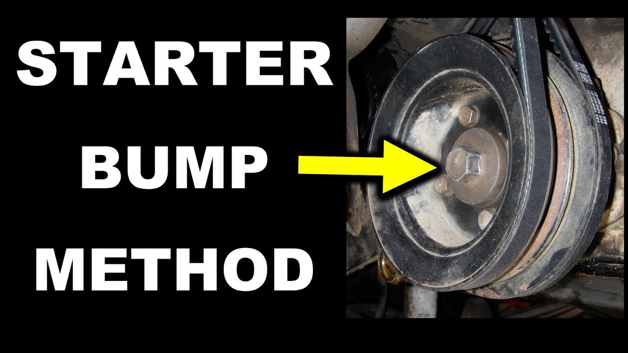 Starter Bump Method Toyota Crankshaft Pulley Bolt Removal 22r Series Engine Thread St20v Vvti Wiring Question 2 Wires