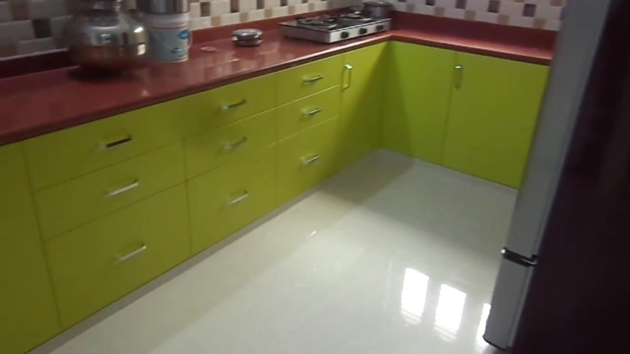 Lemon Green Modular Kitchen In Baroda 9824083905 Youtube