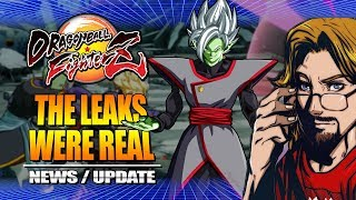 FUSED ZAMASU REVEALED - The Leaks Were Real: Dragon Ball FighterZ DLC Update