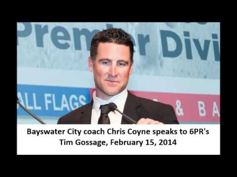 Bayswater City coach Chris Coyne on 6PR