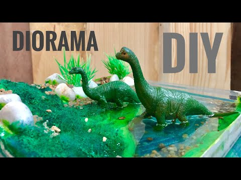 DIY | Dinosaur Diorama with Resin Water Effect | How-To