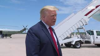 President Trump Delivers Remarks Upon Departure from JBA
