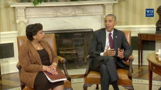 President Obama meets with Attorney General Lynch and FBI Director Comey