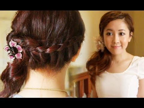 elegant braided summer hairstyle