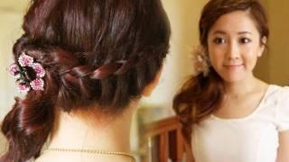 Elegant Braided Summer Hairstyle