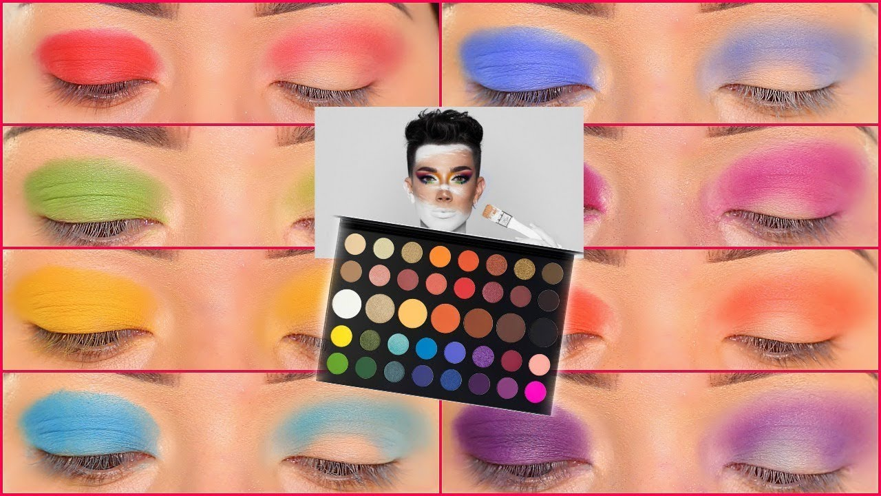 James Charles Artistry Palette Swatches Youtube