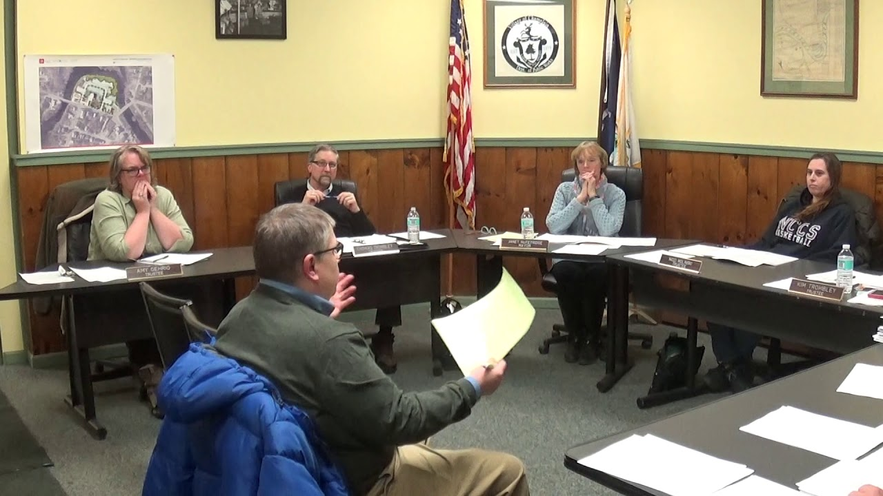 Champlain Village Board Meeting  2-10-20