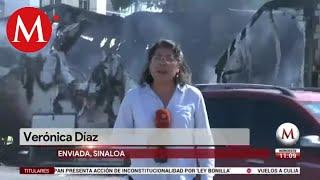 Daños tras enfrentamiento en Culiacán