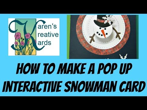 How to Make a Pop Up Interactive Snowman Card
