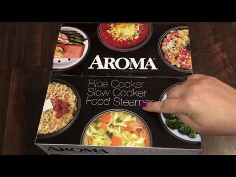 aroma-rice-cooker-slow-cooker-food-steamer-unboxing