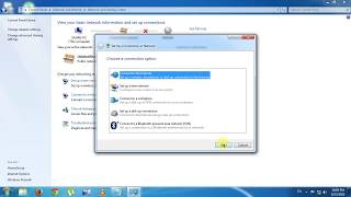 How to setup a new internet connection or network [ Windows 7 ]