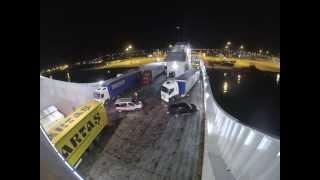 October 16th, 2013: Timelapse of ferry loading at Igoumenitsa, Greece