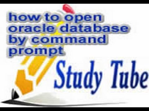 how to open oracle database by command prompt