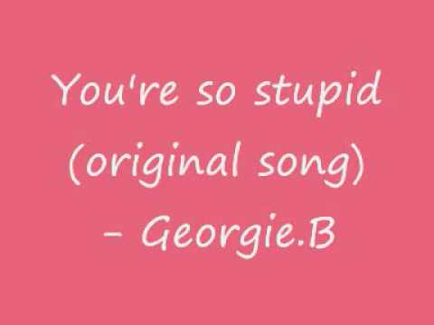 You are so stupid song
