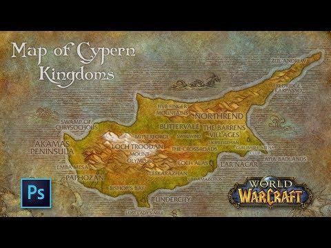 [Photoshop] World of Warcraft styled map of Cyprus - Timelapse