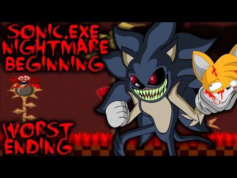 SONIC.EXE NIGHTMARE BEGINNING (UPDATED) - WORST ENDING - BEST SONIC.EXE GAME! [Sonic Horror Game]