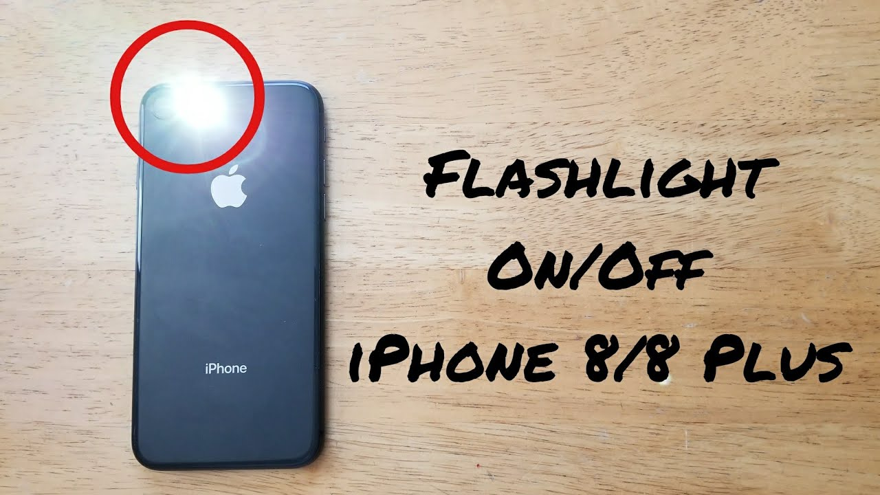 How To Turn Flashlight On/Off IPhone 8/8 Plus