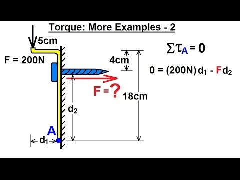 Physics - Mechanics: Ch 15 Torque (20 of 25) More Examples: 2 F=? of Screw  on Bracket