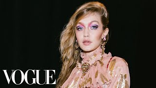 Gigi & Bella Hadid Walk In Anna Sui