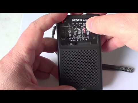 Degen DE32 AM FM Shortwave radio with MP3 player full review