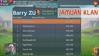 I'M 1st PLACE IN GUILD BASH IN CLAN 1LR THE LIVID REJECTS - PERINGKAT 1 DI JAMUAN KLAN LORDS MOBILE
