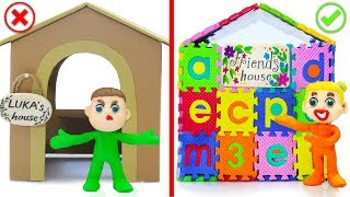 SUPERHERO BABY BUILDS ABC PLAYHOUSE 💖 Play Doh Cartoons Animation