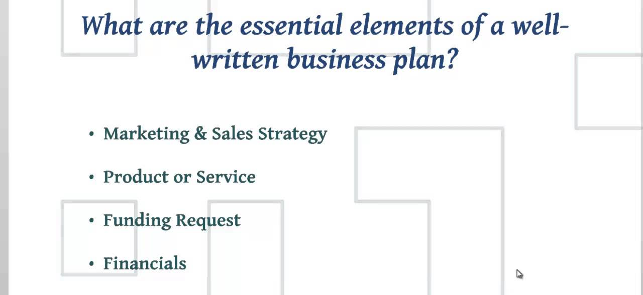 How To Write A Business Plan Essential Elements Of A Good Business