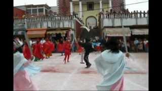 Danza femenil de moros y cristianos Hueytamalco