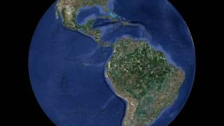 Planet Earth globe animation, rotation 360 degrees,  inclination 0 degrees, Freeware