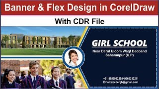 how to create banner and flex board design in coreldraw