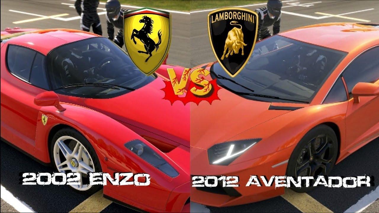 Forza 5 - Ferrari Enzo vs Lamborghini Aventador - YouTube