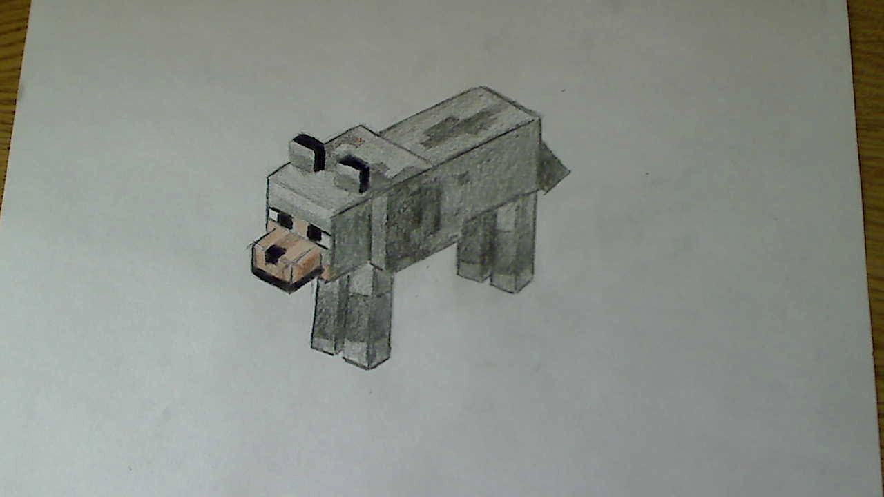 Image of: Cute Youtube How To Draw Wolf Minecraft Youtube